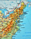 Newyork美国详述与别针 免版税图库摄影