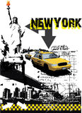Newyork. Vector on abstract background