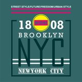 NEWYORK/BROOKLYN Typography Design for t-shirt. Typography for t-shirt,vector illustration art,new design Royalty Free Stock Photography
