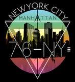 Newyork City graphic design. Fashion style Royalty Free Stock Photo