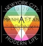 Newyork City graphic design. Fashion style Stock Photos