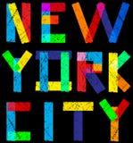 Newyork City typography, slogan, t-shirt graphics, vectors, Stock Image