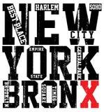 Newyork City typography, slogan, t-shirt graphics, vectors, Royalty Free Stock Image