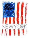 Newyork fashion tee typography graphic design usa flag. Fashion style Royalty Free Stock Photos