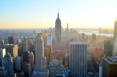 Newyork horisont och Empire State Building Arkivfoton