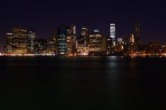 Newyork Skyline at Night Stock Image