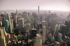 Newyork-Skyline von der Luft Lizenzfreie Stockbilder