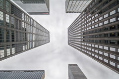 NewYork Skyscarpers - differrent透视 库存照片