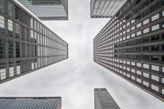 NewYork Skyscarpers - ett differrent perspektiv Arkivfoto