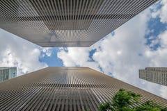 NewYork skyskrapor - ett differrenrperspektiv Fotografering för Bildbyråer
