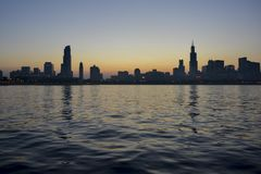 newyork sunset Stock Image