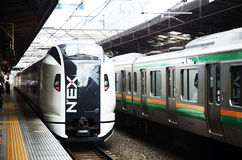 Free NEX Train And Railway Stop Sending And Receive Passengers People Stock Images - 80842374