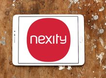 Nexity real estate development company logo. Nexity is a French company that focuses on real estate development and the provision of related services royalty free stock photography
