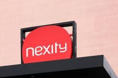 Nexity logo na budynku Zdjęcia Royalty Free