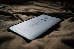 Nexo 6P Smartphone de Google Imagen de archivo libre de regalías