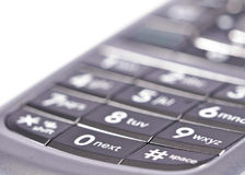 Next. Close up  view of cell phone keypad, focus on word next Royalty Free Stock Photography