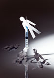 Next... The conceptual image on a theme of narcotic dependence, a white reflective background Stock Image