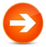 Next arrow icon elegant orange round button Stock Photo