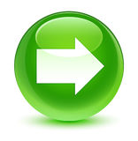 Next arrow icon glassy green round button Royalty Free Stock Images