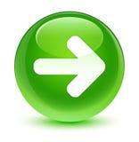 Next arrow icon glassy green round button Royalty Free Stock Photo
