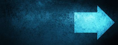 Next arrow icon special blue banner background. Next arrow icon isolated on special blue banner background abstract illustration royalty free illustration