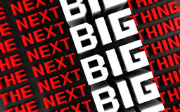 The next big thing background Stock Images