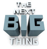 The next big thing coming soon. Announcement 3d illustration Stock Images
