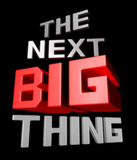 The next big thing. Coming soon announcement 3d illustration Royalty Free Stock Photography