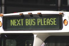 Next Bus Please Stock Image