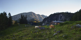 The next day. The beginning of the day in Alps Royalty Free Stock Photography