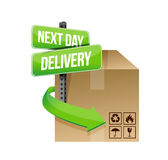Next day delivery illustration design Stock Image
