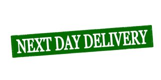 Next day delivery. Rubber stamp with text next day delivery inside,  illustration Stock Photography