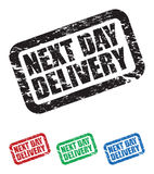 Next day delivery stamps Royalty Free Stock Photo