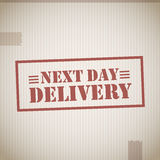 Next day delivery stock illustration