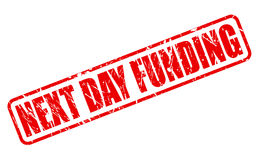 NEXT DAY FUNDING red stamp text Royalty Free Stock Image