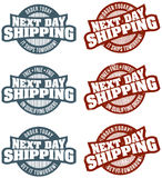 Next Day Shipping Stamps Royalty Free Stock Photography