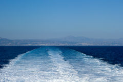 Next departing from Rethymno ferry Royalty Free Stock Photo