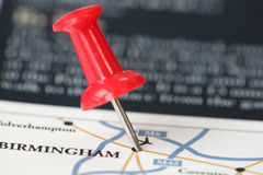 Next destination. Our next destination is Birmingham Royalty Free Stock Photo