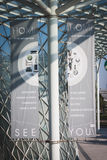 Next edition banner at HOMI, home international show in Milan, Italy Stock Image