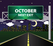 Next exit - october Royalty Free Stock Image