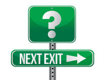 Next exit with question mark illustration design Stock Image