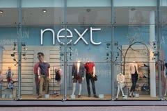 Next Fashion. BIRMINGHAM, UK - APRIL 19, 2013: Next fashion store in Birmingham, UK. Next plc has 550 stores in the UK and Ireland and 200 shops abroad Stock Images