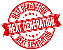 Next generation round grunge stamp Royalty Free Stock Images