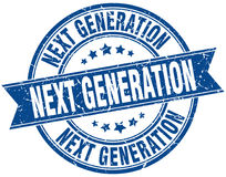 Next generation round grunge stamp Royalty Free Stock Image