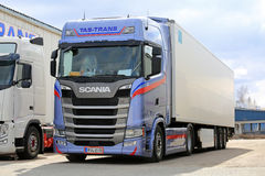 Next Generation Scania FRC Semi Trailer Parked stock image