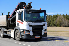 Next Generation Scania P-Series Hiab Crane Truck royalty free stock photography