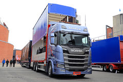 Next Generation Scania R500 and Kapelli Trailer stock image