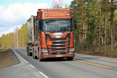 Next Generation Scania S730 for ADR on the Road Stock Images