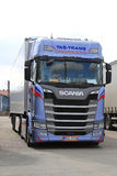 Next Generation Scania S450 Truck Parked, Vertical royalty free stock photos