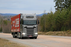 Next Generation Scania Semi High Beams On stock image
